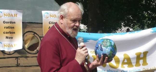 The Bishop of London speaking at Operation Noah's climate event, Westminster, July 2009.