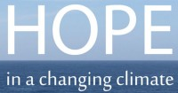 """Hope in a changing climate"" logo"