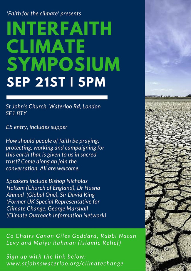 Poster for climate symposium.