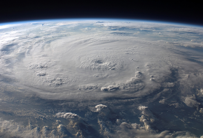Hurricane seen from above.