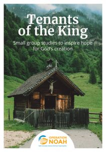 Front cover of the study guide, with photo of a small church in the mountains.