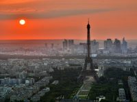 Sunrise over Paris.